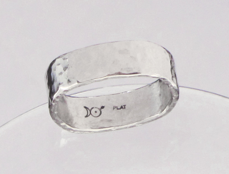 new handforged man's platinum wedding ring