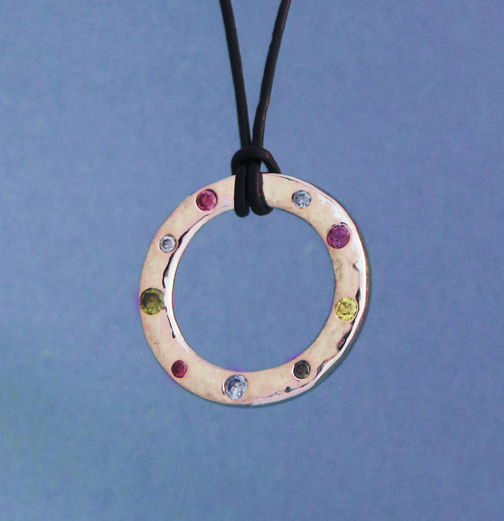 reclaimed wedding ring pendant